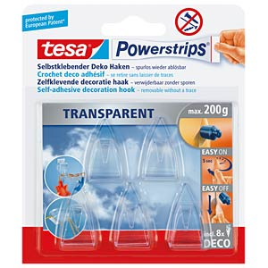 tesa® Powerstrips® Deco hooks, 5 pieces TESA 58900-00013-03