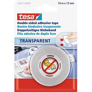 TESA 64621 - tesa® doppelseitiges Klebeband transparent 10 m : 12 mm