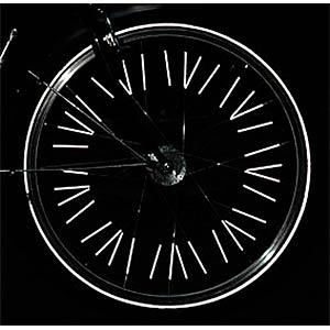 Fahrrad-Speichenreflektoren, silber, 10er-Pack FILMER 40.045