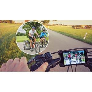 Fahrradkamera mit Live-Bildübertragung, WiFi, 640x480 Pixel DNT 52170