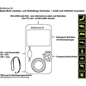 Solar-Multi-Insekten- und Schädlings-Vertreiber BIOMETRIXX 37201