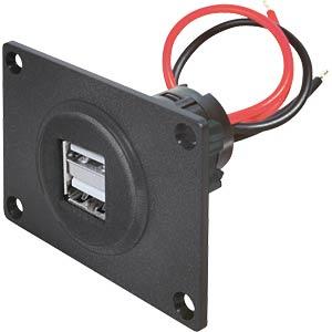 KFZ-USB Einbau-Ladesteckdose, 2 x 2,5A PROCAR 67322500