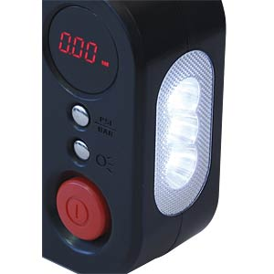 KFZ 12 V-Kompressor mit LED-Lampe und LCD-Display DINO LED 136308