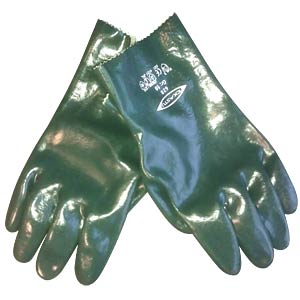 Chemicals, protective gloves, green FREI