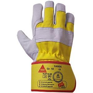 Arbeits-Handschuhe, Sande, Gr. 10 HASE LEDERFABRIK 292002