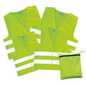 KFZ Warnwesten, gelb, 4er Pack KORNTEX FP100