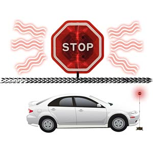 Parking assistant for garages and carports, stop sign KH SECURITY 300113