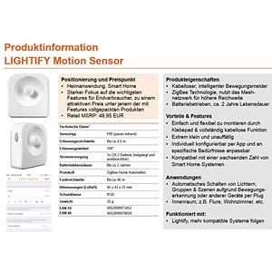 LIGHTIFY Bewegungsmelder/sensor, Smart Home OSRAM 4052899972452