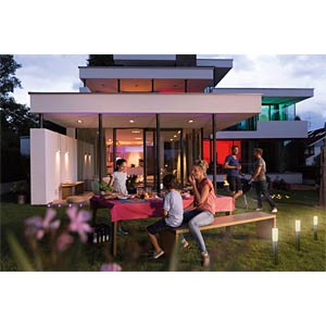 Smart Light, LIGHTIFY Garden Pole 5 RGB Spots, 10 m, EEK A++ - A OSRAM 4058075004993