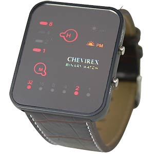 Chevirex binary watch, 92076 CHEVIREX 92076