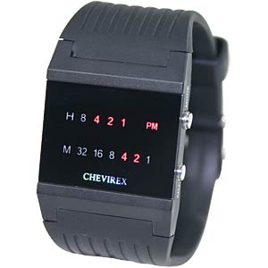 Chevirex binary watch, 92077 CHEVIREX 92077