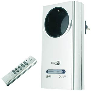 Home Easy socket, on/off, aluminium-look ELRO HE877A