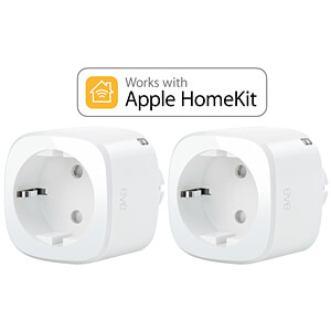 Eve Energy, Stromsensor & Schalter, Apple HomeKit, 2er Pack EVE SYSTEMS 1EE308307002