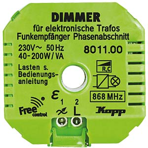 Free Control Funk-Empfänger, Dimmer FREE CONTROL 801100321