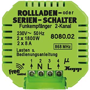 Free-control roller shutter series switch, 2-channel FREE CONTROL 808002224