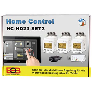 Home Control - starter set for 3 heaters, display ELEKTROBOCK HC-HD23 SET3