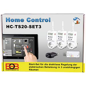 Home Control - starter set for 3 electrical heaters ELEKTROBOCK HC-TS20 SET3