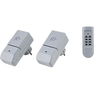 Outdoor wireless sockets, set of two (two switches) HEITRONIC 46240