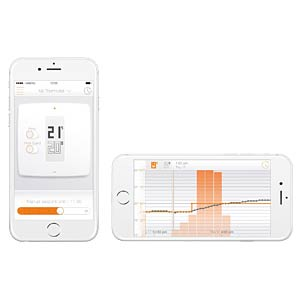 Thermostat with app for smartphone/iPhone NETATMO NTH01-DE-EC
