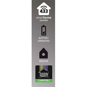 SH5 TSM-A wireless magnetic switch - indoor - white SMARTWARES SH5-TSM-A