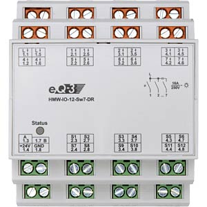 RS485 I/O module, 12 inputs/7 outputs, top-hat rail HOMEMATIC HMW-IO-12-SW7-DR