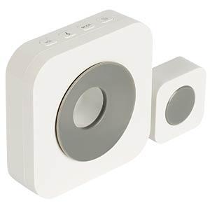 Funk-Türklingel, 90 dB, weiß/grau KÖNIG SAS-WDB201