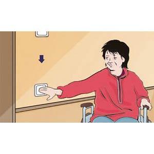 Wireless switch, 1-2 receivers, object 2005, alpine white FREE CONTROL 822202022