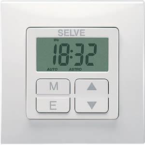 Rollladensteuerung, Zeitschaltuhr mit Astro Programm SELVE 296500