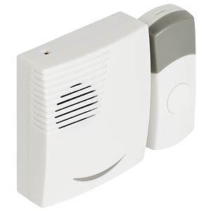Funk-Türklingel mit Batterie 70 dB, weiß/grau VALUELINE SVL-WDB201