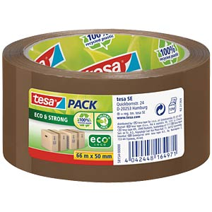tesapack® Eco & Strong, 66 m x 50 mm, braun TESA 58154-00000-00