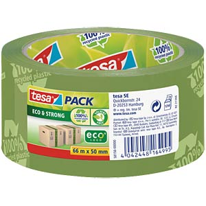 TESAPACK Eco & Strong, 66m x 50mm grün bed. TESA 58156-00000-00