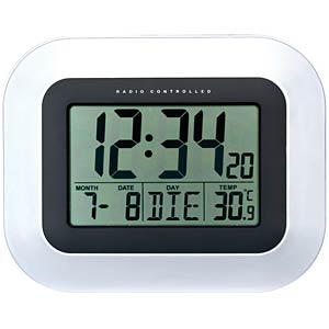Radio wall clock with Jumbo LCD TECHNOLINE WS 8005