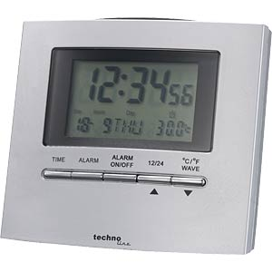 Radio-controlled alarm clock with date display TECHNOLINE WT 250