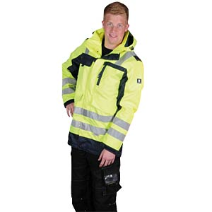 Warnwetterschutz Parka Viborg , Gr. XL, gelb, unisex K-EQUIPMENT 811354