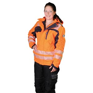 Arbeitsjacke, Softshell, Helsinki, 4XL, orange/marine, EN 20471 K-EQUIPMENT 811333