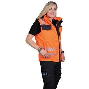 Arbeitsjacke, Softshellweste, Malmö, 4XL, orange/blau, EN 20471 K-EQUIPMENT 811341