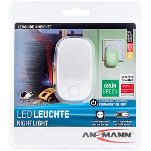 LED-Nachtlicht, 25 lm, 0,3 W, grün ANSMANN 1600-0102
