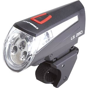 Trelock bicycle LED battery lamp, black TRELOCK 0452