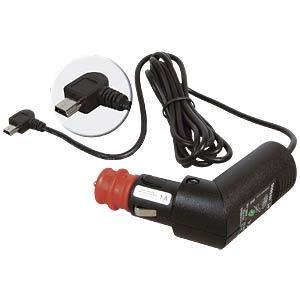Automobile charging cable, mini USB, angled, 2A PROCAR 67854800