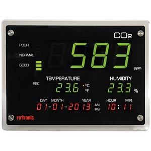 Air quality measuring device, CO2 display ROTRONIC CO2 DISPLAY