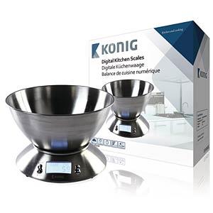 Küchenwaage, Silber LCD KÖNIG HC-KS32N