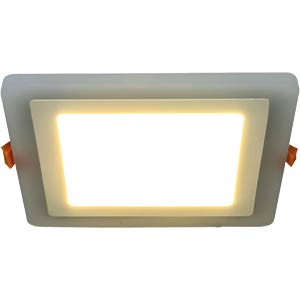 LED Panel, 7 W, 143mm, warmweiß u. blau, EEK A HEITRONIC 27791