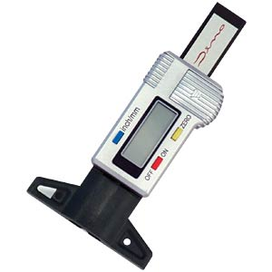 Digital tyre tread gauge with LCD display DINO LED 130005