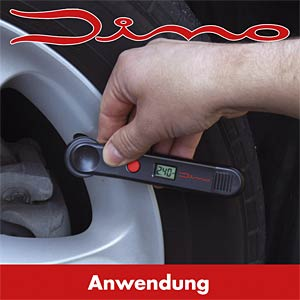 Digital tyre pressure gauge with LCD display DINO LED 130006