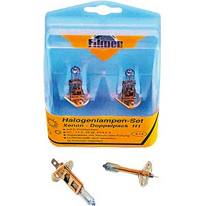 H1 halogen bulbs set (2*H1), xenon FILMER 16062