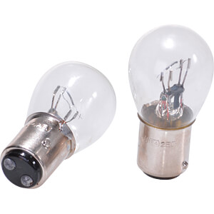 Light bulbs, BAY15D, 21/5 W, 2 pieces EAL 13050