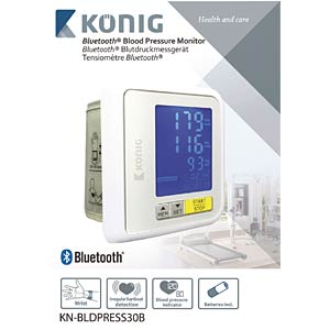 Bluetooth blood pressure monitor for the wrist KÖNIG KN-BLDPRESS30B