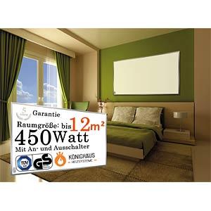 IR-Panel, 450W, 500x900x18cm,white KÖNIGHAUS KÖNIGHAUS E-450 WS
