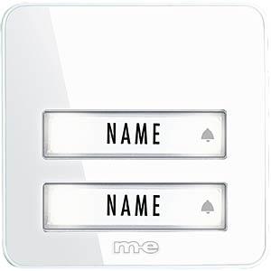 Klingeltaster 2-fach für Funk-Türglocken-System M-E BELL-202 TX