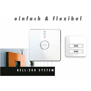 Wireless doorbell system, mobile receiver M-E BELL-220.2